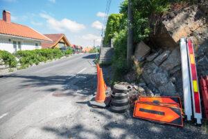 Her ved Kranvegen 64 skal det gjøres arbeid som fører til at veien er stengt i fem uker.