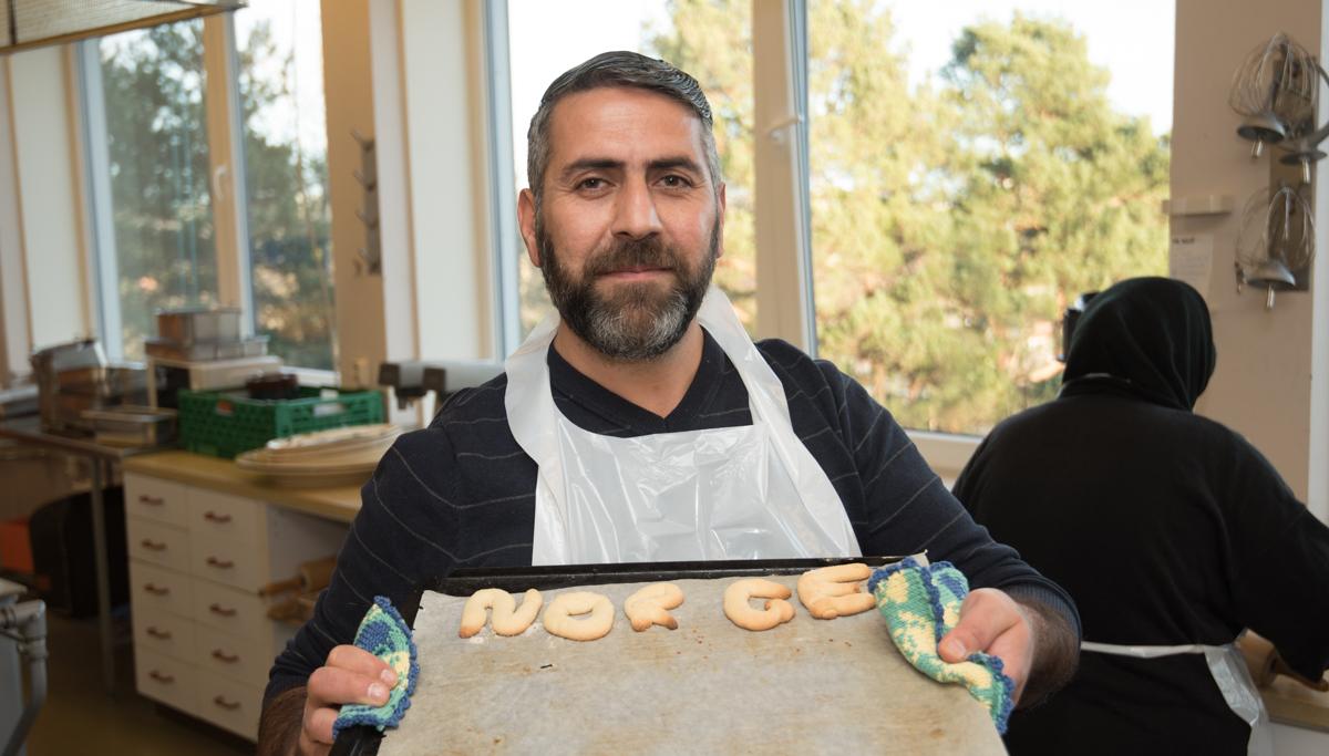 Rabih Shoe liker å bake, og setter også pris på sitt nye hjemland.